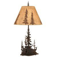 Wilderness Elk Table Lamp
