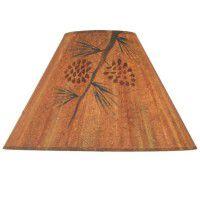 Rustic Pine Cone Lamp Shade