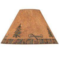 Canoe and Pine Trees Lamp Shades