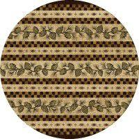Folk Dance Pine Cone Round Rug