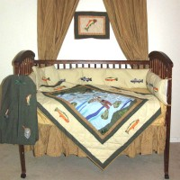 Fly Fishing Crib Set 6 Pieces