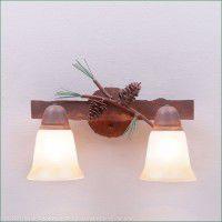 Lakeside Double Vanity Light - Pine Cone