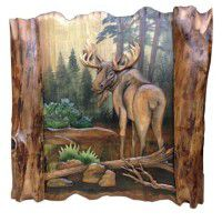 """Moose In Forest 32 """"X 31"""""""