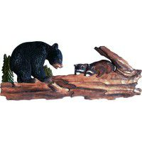 """Bear and Racoon on Tree 32"""" W"""