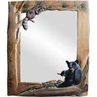 Bear and Raccoon Mirror