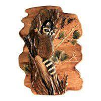 """Racoon in Tree Wood Wall Art 16"""" X 24 """""""