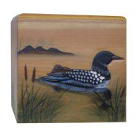 Loon Square Tissue Box Cover