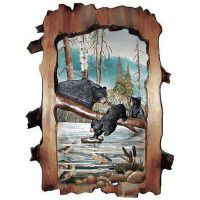 "Bear Cubs Fishing 24"" X 30"""
