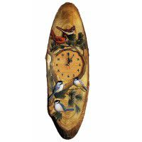 Song Bird Wood Wall Clock