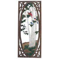 Songbird Carved Screen Door