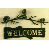 Pine Cone Branch Welcome Sign