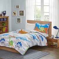 Playful Dinosaur Reversible Coverlet Set