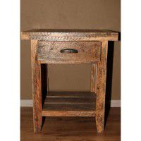 Barnwood Single Drawer Nightstand