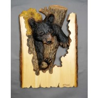 """In a Tight Spot"" Original and Signed Woodcarving 15 x 21"
