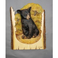 Brooding Bear Original and Signed Carving 16.5 x 21