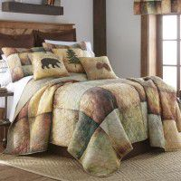 Wood Patch Quilted Bedding Set