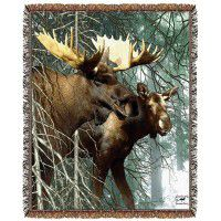 Forest King Moose Afghan