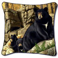 Den Mother Bear Pillow