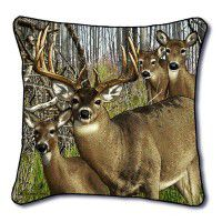 Whitetail Harem Deer Pillow