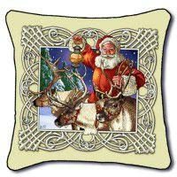 Santa and the Reindeer Pillow