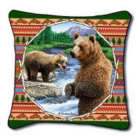 Lodge Bear Pillow