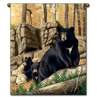 Den Mother Black Bear Wall Hanging
