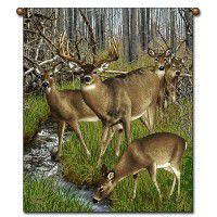 Whitetail Deer Harem Wall Hanging