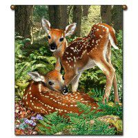 Deer Twins Wall Hanging