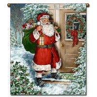 Santa at the Door Wall Hanging