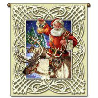 Santa and the Reindeer Wall Hanging