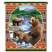 Lodge Bear Wallhanging
