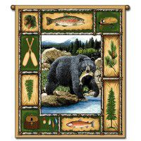 Catch of the Day Bear Wall Hanging