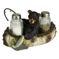 Fishing Bear Salt and Pepper Shaker Set
