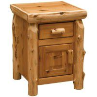 Enclosed Log Nightstand