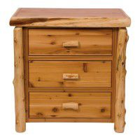 Cedar Log 3 Drawer Chest