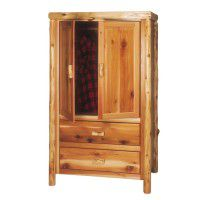 2 Drawer Premium Log Wardrobe