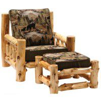 Log Lounge Chair & Ottoman