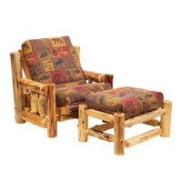 Log Futon Chair with Ottoman