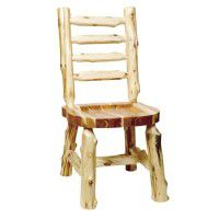 Ladder Back Log Side Chair