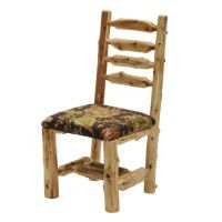 Cedar Log Upholstered Side Chair