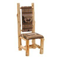 High Back Upholstered Log Side Chair