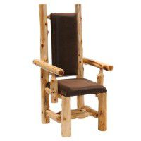 High Back Upholstered Log Arm Chair