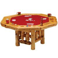8 Sided Cedar Poker Table