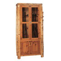 Cedar Log Gun Cabinet