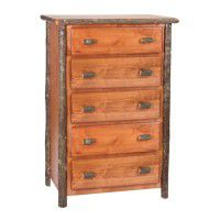 5 Drawer Hickory Chest