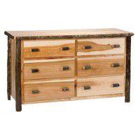 6 Drawer Hickory Dresser