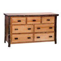 7 Drawer Hickory Dresser