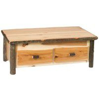 Enclosed Hickory Coffee Table with Elevating Top
