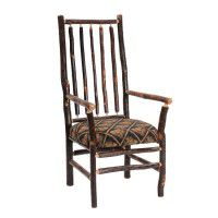 Hickory High Back Spoke Back Arm Chair