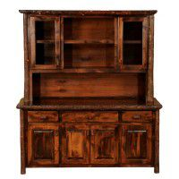 Hand Crafted Hickory Hutch with Shelving